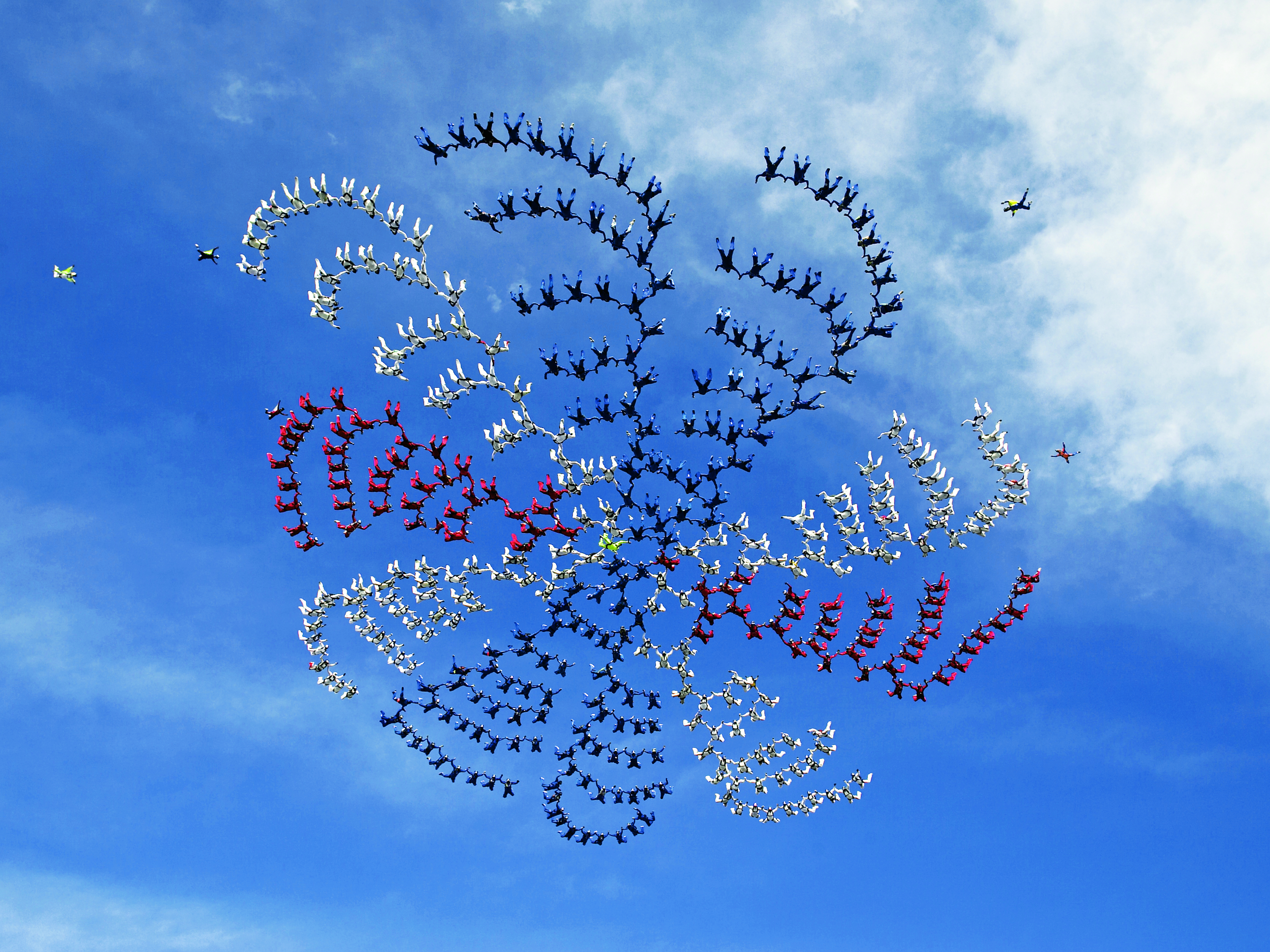 The Current FAI World Record For Largest Free Fall Formation Is A 400 Way Set On February 82006 In Udon ThaniThailand By Team